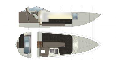 Barca - pianta e sezione