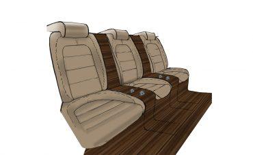 Barca - sedute posteriori esterne
